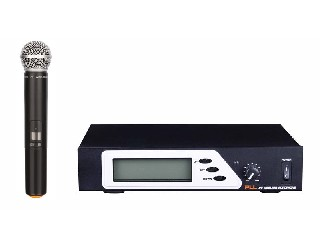 801 single channel selectable wireless microphone system UHF IR PLL LCD half rack size LS-801