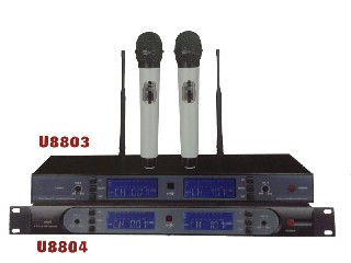 U8803 multi channel infrared wireless microphone system UHF selectable 200 channel PLL U8803