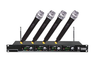 400 Pro 4-channel VHF wireless microphone micrófono 4 MIC digital LCD rack mountable UM-400