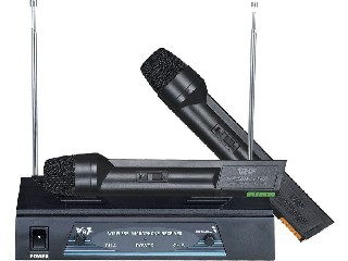 2500 two-handheld wireless microphone VHF dual channel micrófono good quality MIC UM-2500