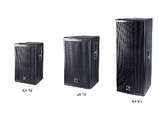 "pro speaker EX series single 12/15 inch or double 15"" two-way full frequency speaker"