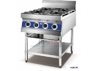HGR-34 4-burner stove with under shelf