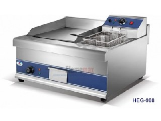HEG-908 electric griddle with electric fryer