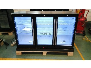 320L Triple Sliding Doors Back Bar Beer Cooler with LG Compressor Bar Refrigeration Equipment BB-320