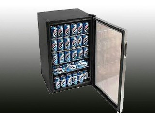 Restaurant Advertisement Mini Bar Fridge Two sides vertical LED light MB-80