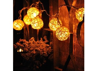 10 Light LED Vine Ball christmas light chain warm white Decorative light Chain