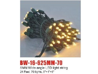 lp65 LED light string BW-16-625MM-70
