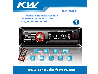 Fixed Panel KV1584 Car MP3 Player