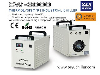 S&A water cooler CW-3000 for cooling 80W optics and lasers