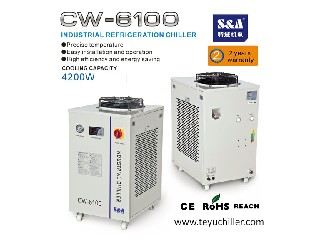S&A water and air cooled chillers with refrigeration compressor