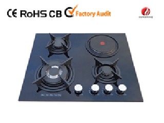 4 burner tempered glass gas hob with hot plate YG-4G119E