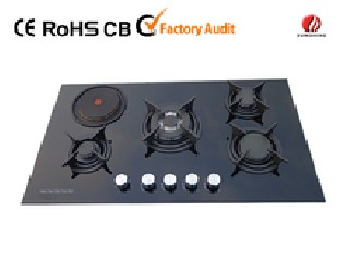 new design gas stove with hot plate YG-5G113E