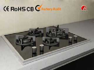 Tempered Glass 4 Burner gas cooktop YG-4G655