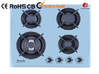 4 burner tempered glass gas stove  YG-4G235W