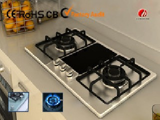 2015 new design stainless steel gas stove YG-2G718
