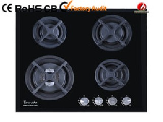 4 burner tempered glass gas hob YG-4G122
