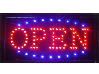 2016 hot sale super brightly customized led light sign led open sign billboard 10*19 Inch semi-outdo