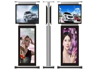 55 inch free standing led touch screen double sided digital signage