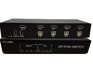 4 port DisplayPort KVM Switch SW1401DP