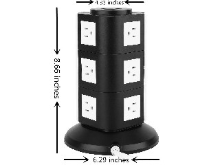 110V US outlet tower power electrical usb extension socket