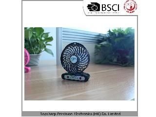 Computer Rechargeable USB Portable Mini DC Brushless Fan With LED Light HF307
