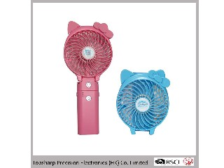 HF3102 portable rechargeable mini usb fan with power bank of 3000 mAh
