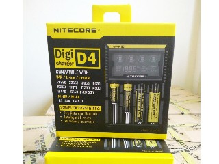4 in 1 LCD Safe Digital Smart 18650 Battery Charger Nitecore D4 for All Rechargeable Batteries