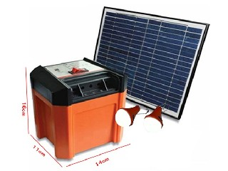 8W portable DC solar kit with 2 lamps   SP3
