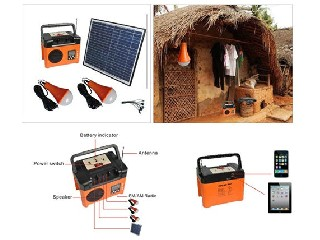 10W portable DC solar light system with FM   SP7