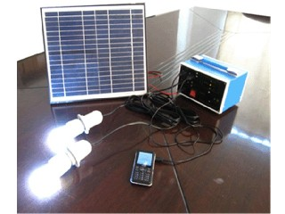 10W solar panel DC system with 2 bulbs  SP10