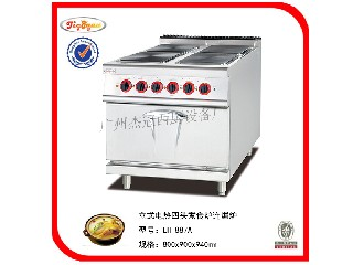 Electric range with 4-burner&oven