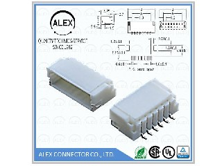 "Side Entry Header, SMT / .039""(1.00mm) Wire-to-Board Connector  1004-xx"