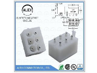 "Vertical Header / .093""(2.36mm) WTB Connectors 8891-xxW"