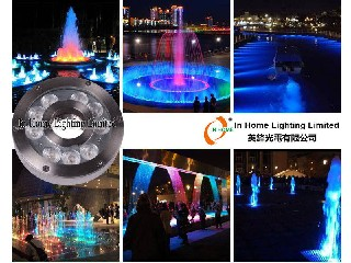 RGB 9W / 27W LED Underwater Fountain Lamp ,RF Controller LED Underwater Pond Lights IH-SD-FL9X1F