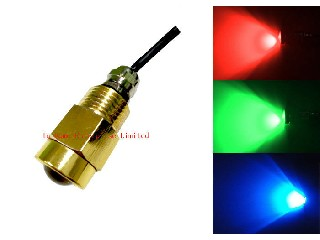 High Lumen Brass Drain Plug Boat Underwater LED Lights With 9W CREE Chips   IH-Drain Plug Light-1*9w