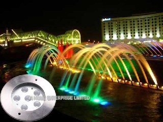 18W RGB IP68 Waterproof Underwater LED Pool Lights With Stainless Steel 316    IH-SD-M6X3F
