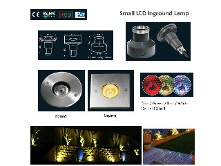 CE&ROHS 316 Stainless Steel Small RGB Round or Square LED Underground Lights   IH-MD-K
