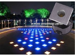 3W Multi - Color Led Underground Light With 3 Years Warranty , Energy Saving   IH-MD-FC1X1
