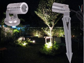 Color Changing 3W Outdoor LED Garden Lights 3IN1 LED Garden Lights With Spike Base  IH-TD-S1X3FF