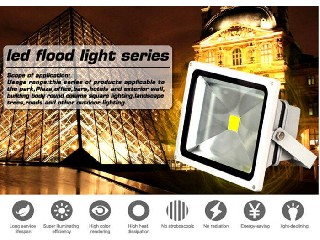 Die Casting Aluminium Outdoor Led Flood Lights Bright Led Floodlight 30w   IH-FL-30W-5A