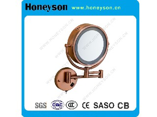 Hotel Bathroom Magnifying Mirror with LED Light QL-5229
