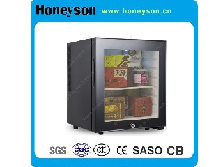 30L Glass Door Semi-Conductor Mini Bar Fridge for Hotels HS-30G