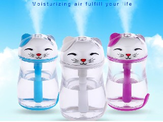 Lucky cat LED humidifier with light  180ml EW-SX-C03