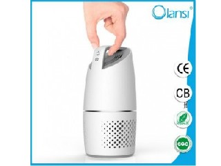 white and silver Small Car Air Purifier Remove Bad Smells Negative Ions Refreshing Air Ionizer OLS-K