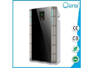 Activated carbon home HEPA air purifier ionizer with dust sensor, light sensor, P.M 2.5 display and