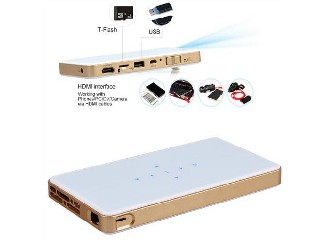 New Arrival Pico Projector / Smart Mobile Phone Projector C9 With 5000mAh Built-in Battery