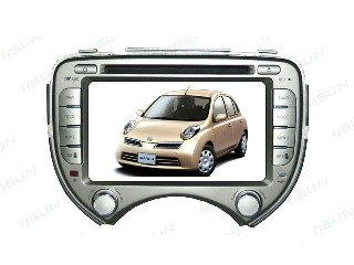 Car DVD Player with GPS NISSAN  MARCH  (TS7256)