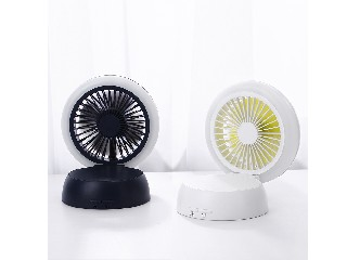 Mini desk Fans with night Light USB table fans with rechargeable  GXZ-WG1
