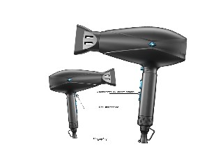 Dual Voltage Professional Ionic Ceramic Blow Dryer with Concentrator Attachment  HD-011